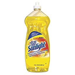 Sunlight 5729811 Liquid Dish Detergent, Lemon Scent, 38 oz. Bottle (Pack of 9)