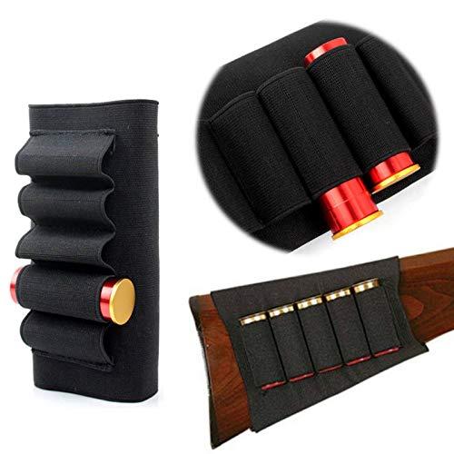 Gexgune Butt Stick Escopeta Culata Rifle Escopeta Caza Shell Cartucho Cartucho de municiones Portador para 12G 12 Gauge 20G Deporte al Aire Libre