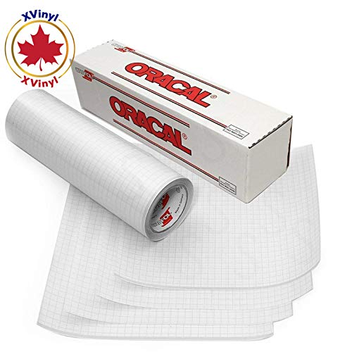 Oracal Transfer Tape Paper Roll for Vinyl - Adhesive Application Tape Works  Great with Oracal 651, 631 and Cricut Vinyl - Bonus Maple Leaf Permanent
