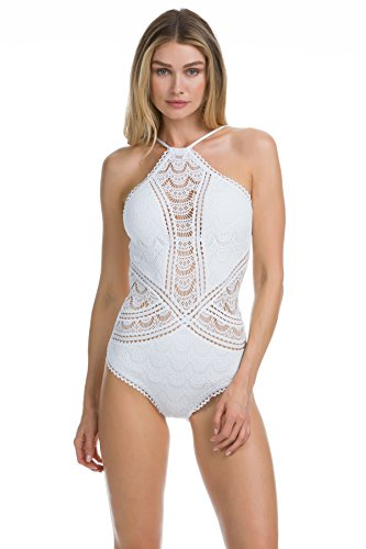 - Becca by Rebecca Virtue Women's Color Play High Neck One-Piece White Small