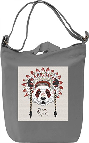 Wild Panda Borsa Giornaliera Canvas Canvas Day Bag| 100% Premium Cotton Canvas| DTG Printing|