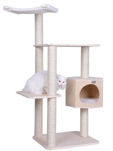 Armarkat S5402 Premium Solid Wood Cat Tree Tower, 54'' by Armarkat