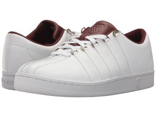 K-Swiss(ケースイス) メンズ 男性用 シューズ 靴 スニーカー 運動靴 The Classic(TM) - White/Rum Raisin [並行輸入品] B07BDMCDVV 10.5 D - Medium
