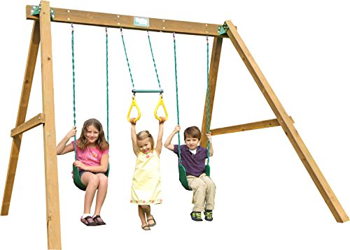 Creative Playthings (Playtime Series) Classic Swing Beam Swing Set Made in the USA (Swing Set Series Playtime)
