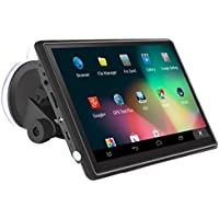 SODIAL(R) Car mounted 7 inch 736 GPS navigator, with the United States map Android 4.4.2, 512MB + 8GB 800X480 built-in Bluetooth /wifi/MP3/MP4, /FM/ microphone, /AV-IN reverse image