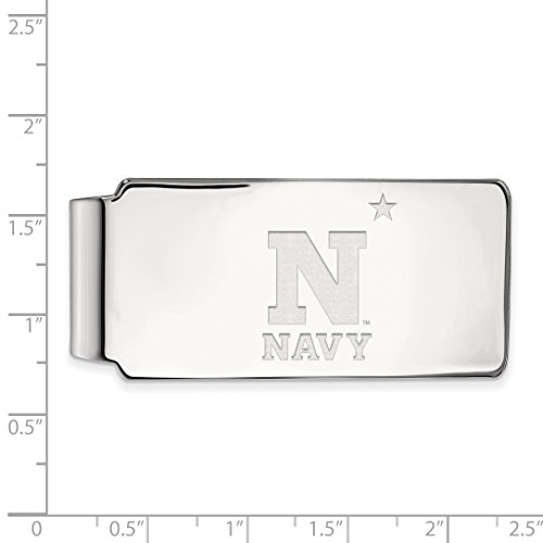 Silver Clip Licensed LogoArt Navy Sterling Collegiate Sterling Silver Money Official XqzEwf