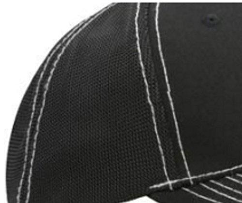 Deporte Breathable Gorro béisbol Z a E Gorra Unisex Mujer Ineinander Hombre Negro acceda Béisbol de Caps Carta de xqCE4UwEO