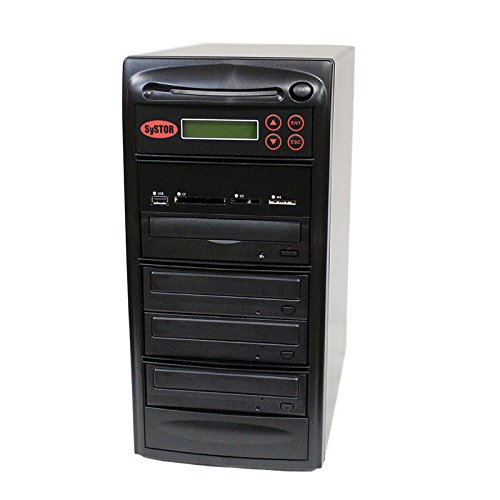 SySTOR All-in-One Multi-Media Flash Memory Back-up USB/SD/CF/MS/MMC to 1-3 CD DVD Duplicator