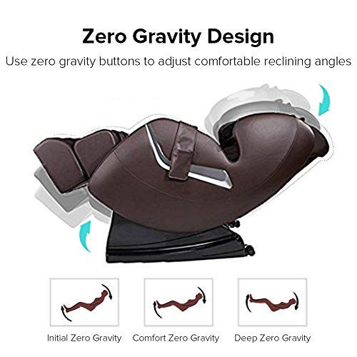 Real Relax Shiatsu Electric Zero Gravity Full Body Affordable FDA Approved Massage Chair Recliner with Heat and Foot Rollers, Brown