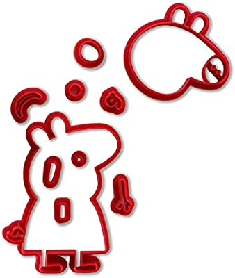Molde cortador de galletas Peppa Pig para niños, moldes de ...
