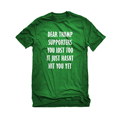 Mens Dear Trump Supporters T-Shirt Kelly Green XX-Large