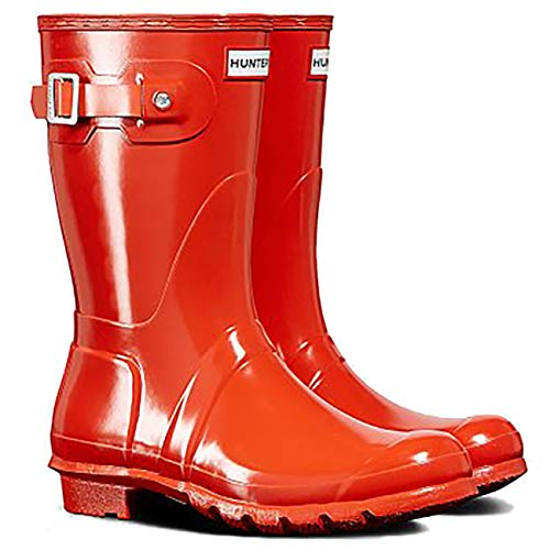 Short Boot Women's Orange Original Boot Hunter Gloss Rain TqAtgvASn