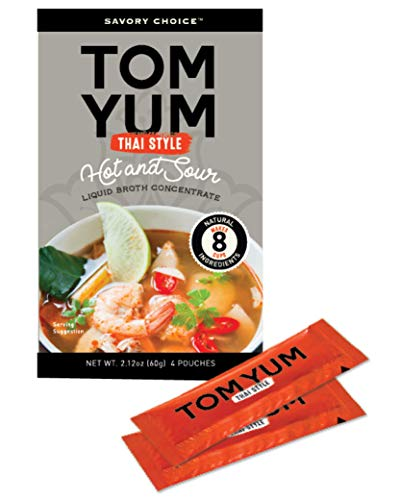 Savory Choice Thai Style Hot and Sour Liquid Broth Concentrate, Tom Yum, 2.12 Ounce (Thai Hot And Sour Soup)