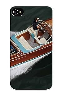 Downturnvver High-quality Durability Case For Iphone 4/4s(1968 Riva Aquarama Lamborghini Superboat Race Racing Boat Engine )
