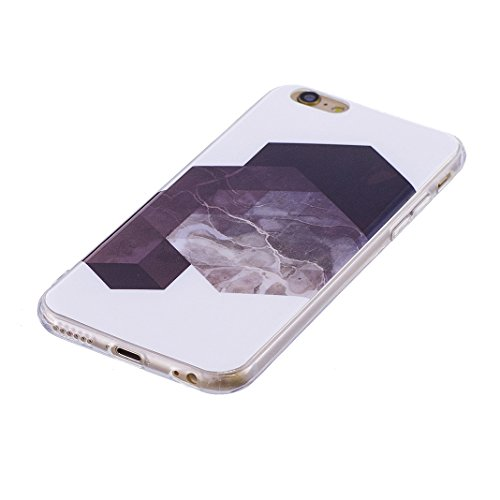 Funda de mármol para iPhone 5/5S/SE, Carcasa Suave TPU Oududianzi Funda de Silicona Flexible Soft Silicone Case Casco Protectora Anti Choque - Encantador Mármol Púrpura