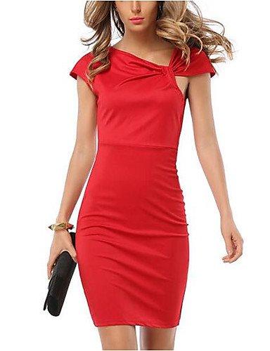 JIALE3536 Vestido Fiesta Mujer,De Fiesta Mujer Vestido De Fiesta,Imprimir Halter Sleeveless Rascacielos Rojo