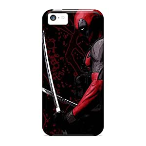 Shock Absorbent Hard Cell-phone Case For Apple Iphone 5c (qrW13382awUg) Unique Design Fashion Deadpool Sword Series