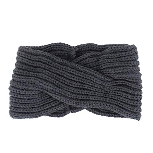 Fashion Warm Headwrap Women Knitted Crossover Headband 11 Solid Colors Hair Band Crochet Winter Warmer Lady Hairband Headwrap]()