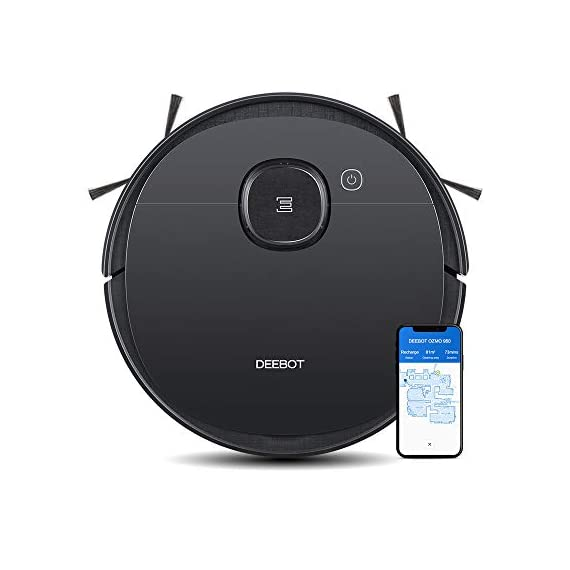 Ecovacs DEEBOT OZMO 950 Robotic Vacuum Cleaner 2-in-1 Vacuuming & Mopping with Smart Navi 3.0 Laser Technology Custom Cleaning Multi-Floor Mapping Virtual Wall Works on Carpets & Hard Floors 1
