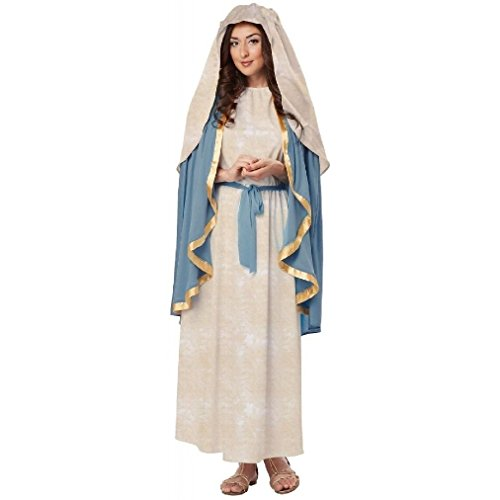Fancy Holy Bible Biblical Virgin Mary Religious Adult Costume (Judge Robe Adult Costume)