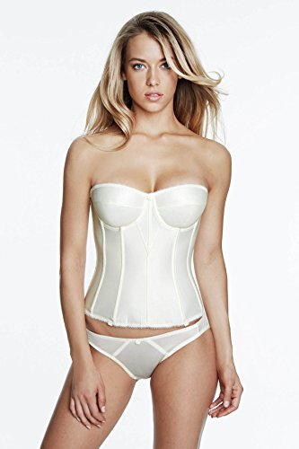 Dominique Satin Low Back Strapless Underwire Bustier Style 7750 - Ivory - 34DD ()