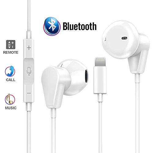 Coyaho Stereo Headphones Compatible with iPhone 7/7 Plus / 8 / 8Plus / X, Bluetooth Earphones with Microphone & Remote Control