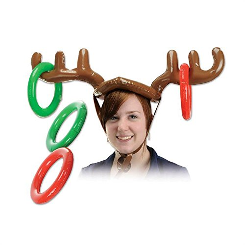 LiPing Inflatable Reindeer Christmas Hat Antler Ring Toss Holiday Party Game Toys Headband Perfect for Working/Accessories for Fashion Or Sport (38.19