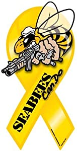 Seabees Ribbon Magnet by Magnet America