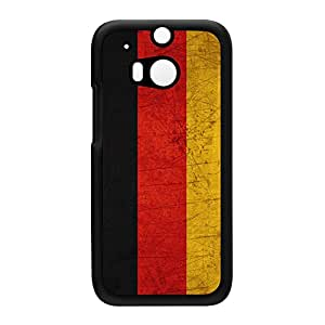 Old Grunge Metal Flag of Germany - German Flag - Deutsche Flagge - Deutschland Bundesflagge Black Hard Plastic Case Snap-On Protective Back Cover for HTC? One M8 by UltraFlags + FREE Crystal Clear Screen Protector