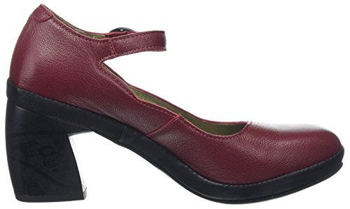 Chic745fly Red Black Bout Cordoba Femme Fly Fermé Rouge Escarpins London gaqWw85