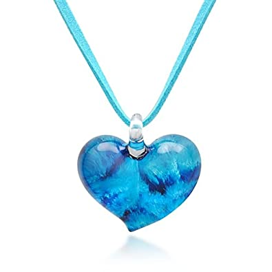 blue linda v murano jewelry necklace product glass lake