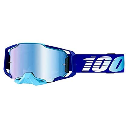 Image of 100% Armega Adult Off-Road Motorcycle Goggles - Royal/Blue Lens/One Size
