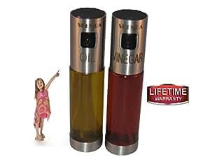 Skenda Oil and Vinegar Dispenser Sprayers,Replaces Salad Dressing Bottles,Cruet - Free E-books ( 5 ) Perfect Oil Sprayer For Cooking, Olive Oil Sprayer - Not Need Pre-Pump As Misto Olive Oil Sprayer.
