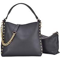 2-Piece Dasein Studded Hobo Women's Handbag With Shoulder Strap
