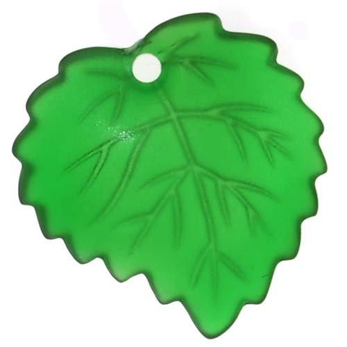 (Beadaholique Lucite Aspen Leaves Emerald Green Light Weight 16mm (4))