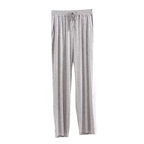 VIPEX Women Full Length Lounge Wear Panties Solid Color Modal Pajama Pants Sleepwear Nightwear Gray