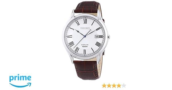 Seiko Reloj de Cuarzo para Hombre con Correa de Cuero - SGEG97P1   Amazon.es  Relojes 0c4ab27302b1