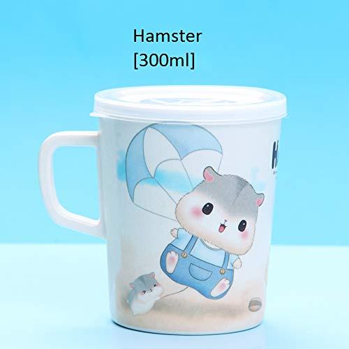 Breakfast cup with handle cartoon cup Hamster [300ml]