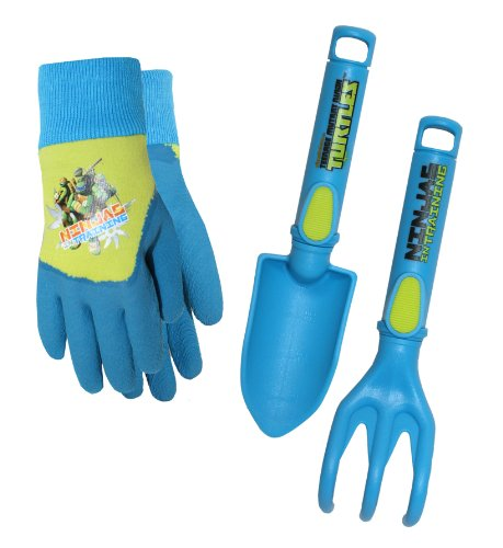 Teenage Mutant Ninja Turtles Kids Gloves with Garden Tools