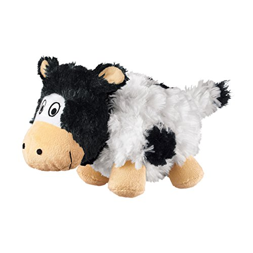 - KONG Company RC31 Barnyard Cruncheez Cow Dog Toy Black/White, Small