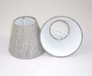 1 Pantalla para lámpara de mesa hecha a mano pequeña - Carcoal gris Lino