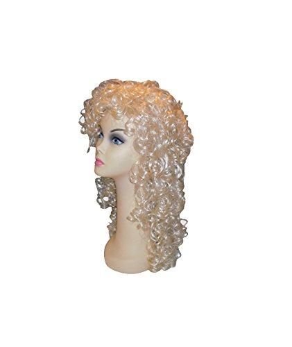 [00014/1 (Blonde) Wet Look Wig] (Dolly Parton Wig)