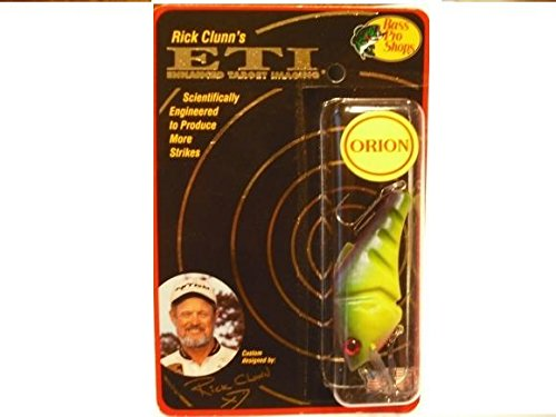 (RICK CLUNN'S ORION E.T.I Enhanced Target Imaging PARROT #5 Crankbait FISHING LURE )