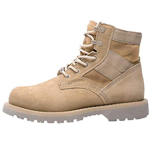 High Inverno Autunno Lace Safety Men Boots Desert Army WKNBEU In Pelle Boot Martin Top Up Uomo Work Di Shoes A Colore Pattuglia Casual Casual wz5HnHRqE