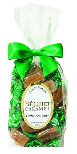Bequet, Celtic Seasalt Giftbag, 8 Ounce (Salted Caramel Candy)