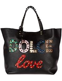 Dolce&Gabbana women's leather handbag shopping bag purse beatrice black
