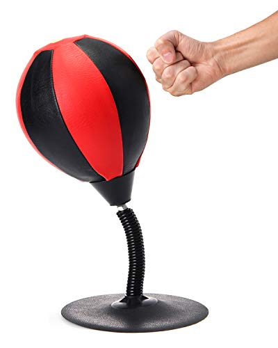 ViperGear Desk Punching Bag with Strongest Suction Cup - Boxing Punching Bag Stress Buster | Desktop Punching Bag Stress Relief Gift for Dad and Gift for Boss