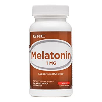 GNC Melatonin 1mg, Cherry, 120 Lozenges, Supports Restful Sleep