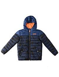 SNOW DREAMS Little & Big Boys Letter Embroidery Print Hood Quilted Puffer Jacket