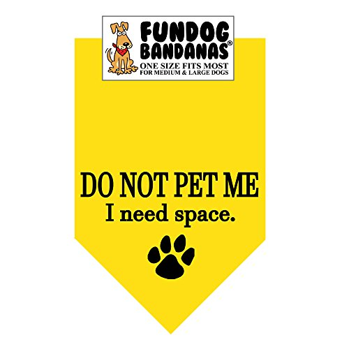 DO NOT PET ME; I NEED SPACE Dog Bandana (One Size Fits Most for Medium to Large Dogs)